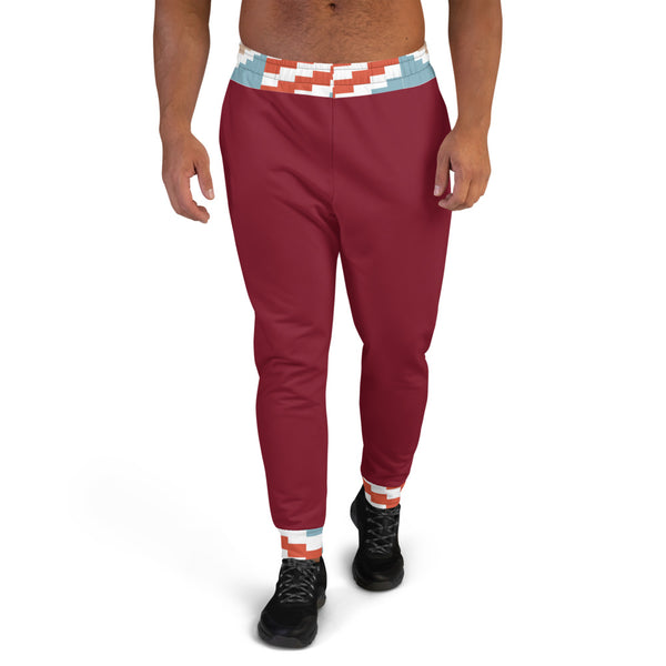 Valentine Gift hand-sewn Men Kente pattern Joggers-Phany's