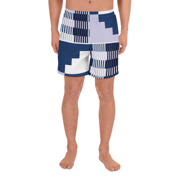 (BALANCE) Kente-Inspired Hand-Sewn Men's Luxury Athletic Long Shorts