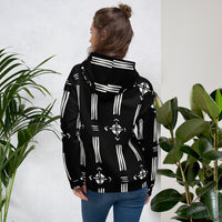 (INHALE) Hand-sewn Quality Mud-cloth pattern Fall/ Winter Hoodie-Hoodie-Phany's