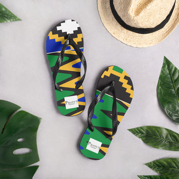 (POWER) Kente-inspired Durable Luxury Flip-Flop Slippers