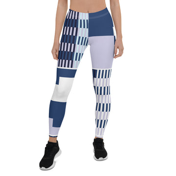 (BALANCE) Kente-Inspired Hand-Sewn 4-Way Stretch Leggings