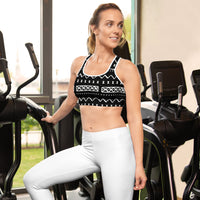 (INHALE) Mudcloth-inspired Sports bra-Phany's