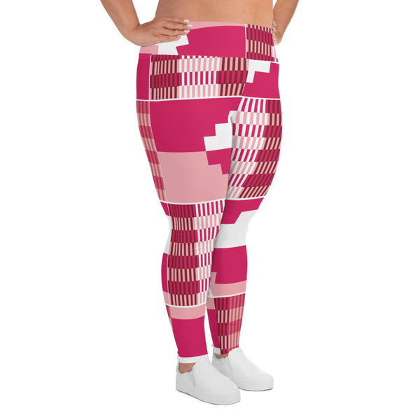 (GRACE) Kente-Inspired Hand-Sewn Plus Leggings-Phany's