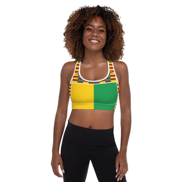 (EARTH) Kente-Inspired Hand-Sewn Padded Sports Bra