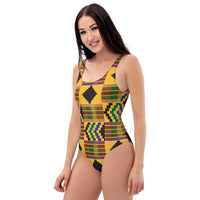 (STRENGTH) Kente-Inspired Hand-Sewn Luxury Swimsuit-Phany's