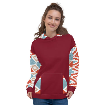 Hand-sewn  Ladies Kente pattern Hoodie Sweatshirt