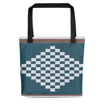 (DIAMOND) Diamond-shape Hand-sewn Kente-inspired Tote bag