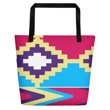(LIFE) Kente-Inspired Luxury Tote Bate