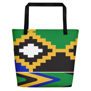 (POWER) Kente-Inspired Luxury Boho-Style Tote Bag