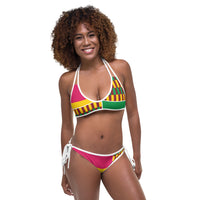 (ESSENCE) Kente-Inspired Hand-Sewn Luxurious Bikini-Phany's