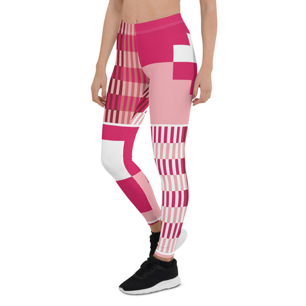 (GRACE) Kente-Inspired Hand-Sewn 4-Way Stretch Leggings