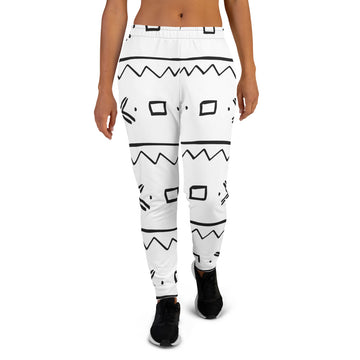 (EXHALE) Quality hand-sewn Mud Cloth pattern Women's Joggers