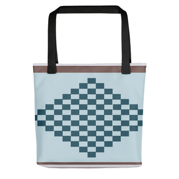 (PEACE) Diamond-shape Kente-inspired Tote bag