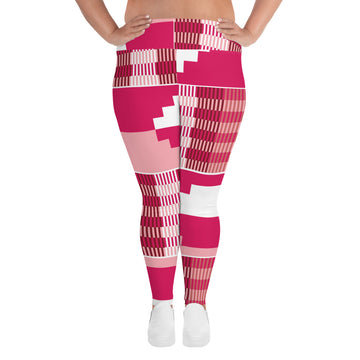 (GRACE) Kente-Inspired Hand-Sewn Plus Leggings