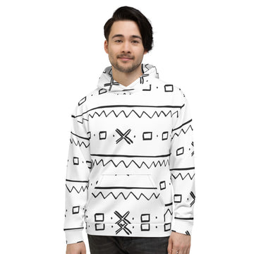 (EXHALE) Men hand-sewn Mud Cloth pattern Fall/Winter Hoodie