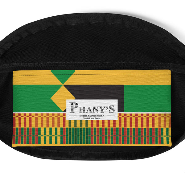 (STRENGTH) Kente-Inspired Hand-Sewn Luxury Fanny Pack