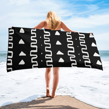 (INHALE) MudCloth-Inspired Luxury Oversized Beach Towel
