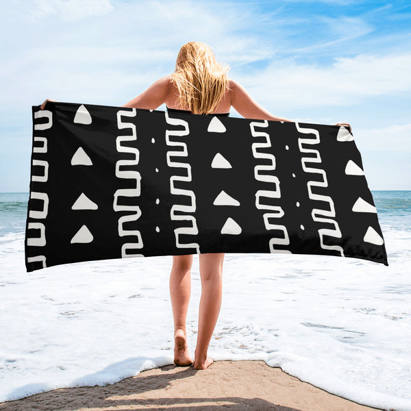 (INHALE) MudCloth-Inspired Luxury Oversized Beach Towel-Phany's