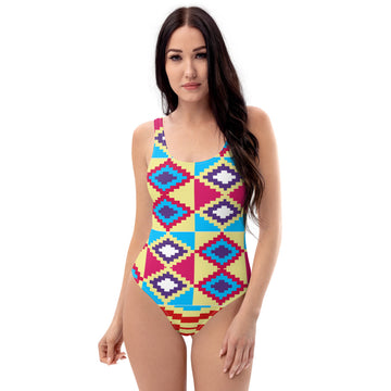 (LIFE) Kente-Inspired Hand-Sewn Luxury Swimsuit
