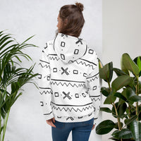 (EXHALE) Quality Unisex hand-sewn Mud Cloth pattern Fall/Winter Hoodie-Hoodie-Phany's