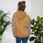 Brown Quality Kente pattern Hand-sewn Fall Winter Hoodie Sweatshirt-Hoodie-Phany's
