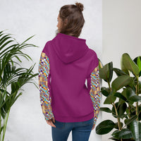 Purple Quality kente pattern Fall Winter Hoodie Sweatshirt-Hoodie-Phany's