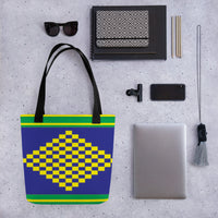 (POWER) Diamond-shape Hand-sewn Kente-inspired Tote bag-Phany's