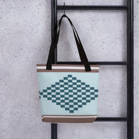 (PEACE) Diamond-shape Kente-inspired Tote bag-Phany's