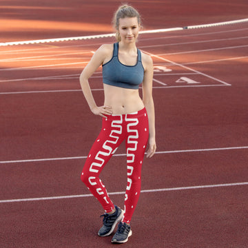 (SACRIFICE) MudCloth-Inspired Hand-Sewn 4-Way Stretch Leggings