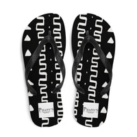(INHALE) MudCloth-Inspired Durable Luxury Flip-Flop Slippers-Phany's