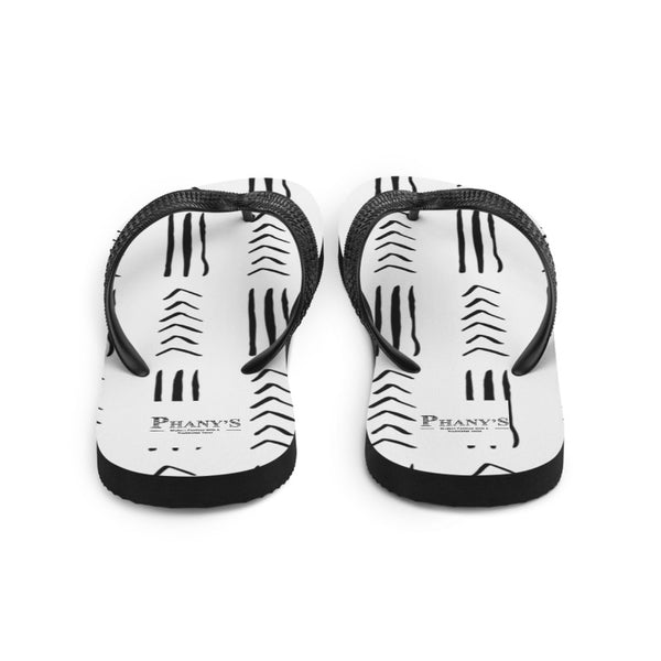 (EXHALE) MudCloth-Inspired Durable Luxury Flip-Flop Slippers-Phany's