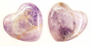 Brazilian Tumbled Amethyst Palm Stone Heart