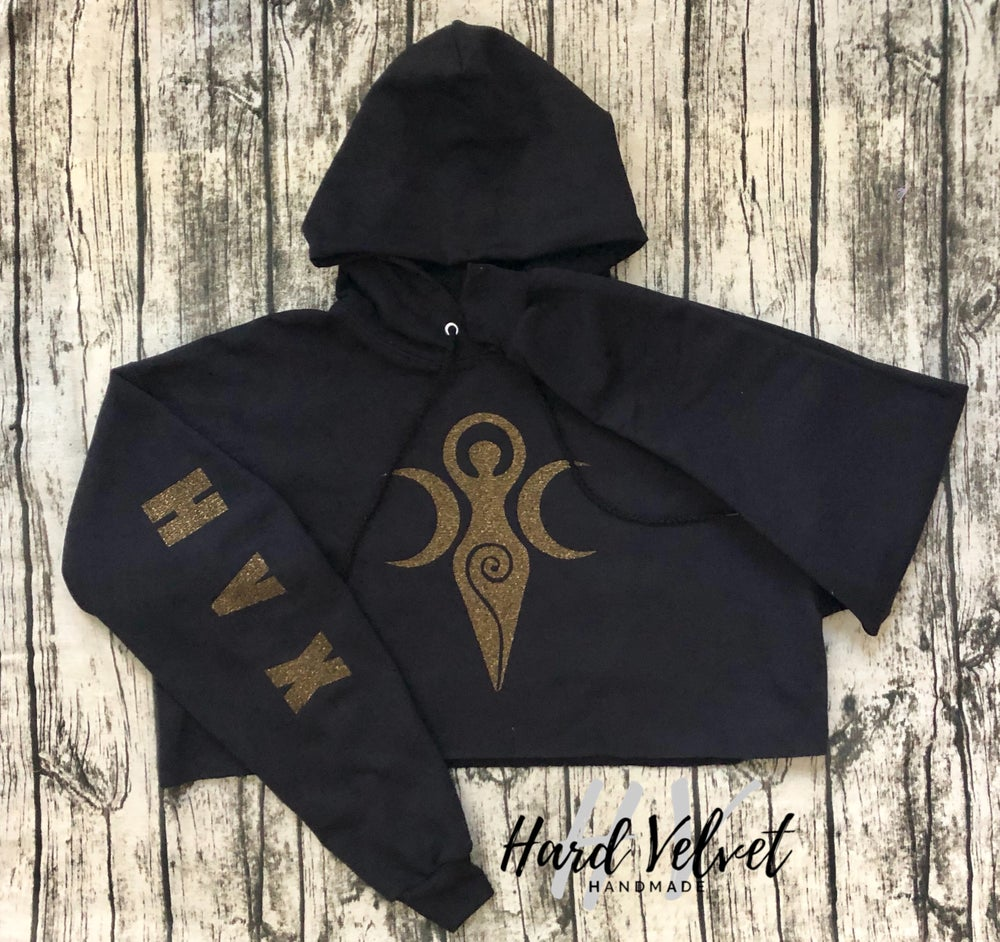 Goddess Cropped Hoodie
