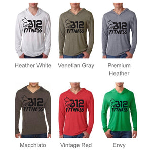 B12 Fitness Hooded Long Sleeve Top