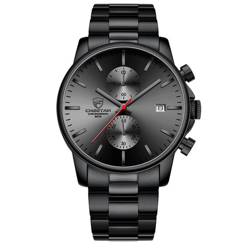calendar steel watch