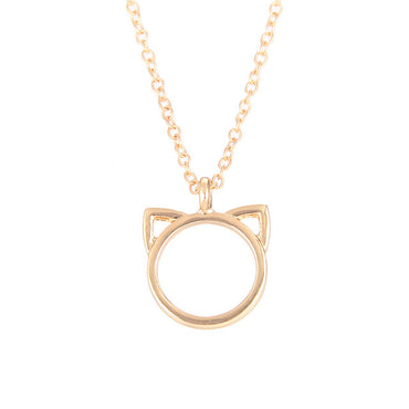 Fashion Jewelry Purrfection cat ear alloy pendant short necklace Women Gift