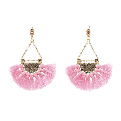 JURAN 13 Colors 2017 New Fashion Fringing Earrings Statement Jewelry Tassel Long Earring For Women Wedding Dangle Drop Earrings