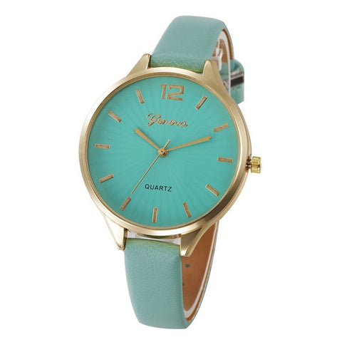 2018 New Arrival watch women Faux lady dress watch, women's Casual Leather quartz-watch Analog women's gifts Relogio Feminino