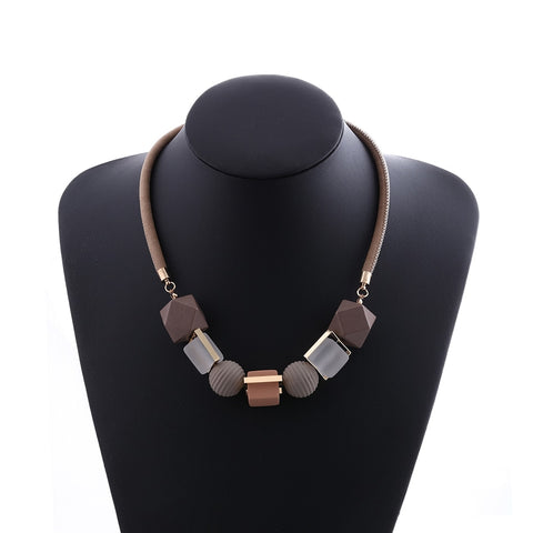Match-Right Women Necklace Statement Necklaces & Pendants Wood Beads Necklace For Women Jewelry MX012
