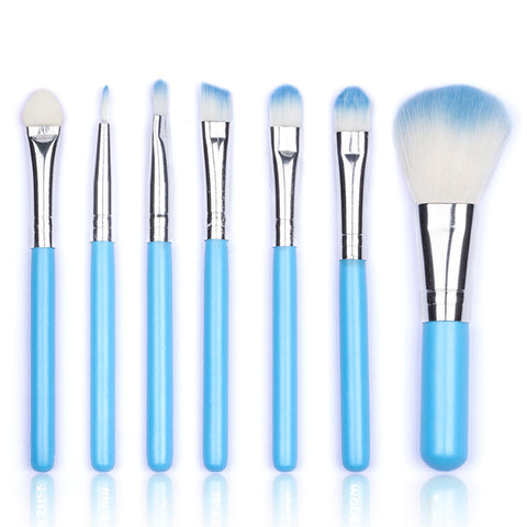 Professional 7 Pcs Makeup Brushes Set Face Eye Shadow Powder Blush Make-up Kits Wool Foundation Cosmetic Tools Make Up Brush Set