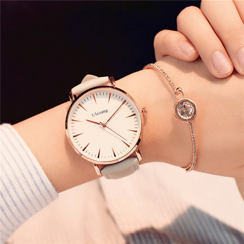 Exquisite simple style women watches luxury fashion quartz wristwatches shipping ulzzang brand woman clock montre femme