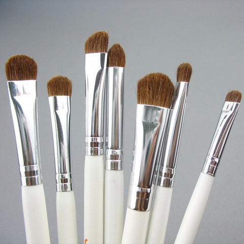 JAF Brand 7pcs Eyeshadow Brushes for Makeup Classic 100% Natural Animal Hair Eye Shadow Blending Make Up Brush Set JE07PY