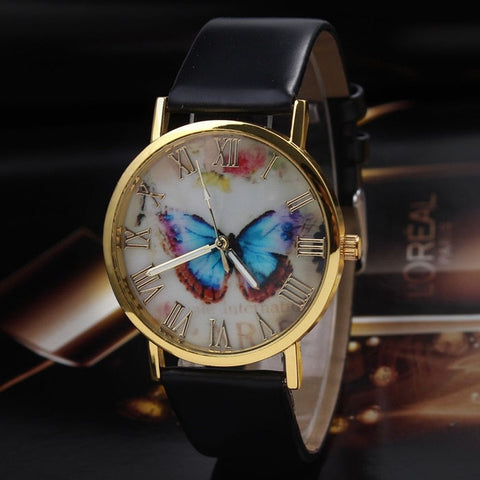 Delicate watch women watch NewHot Girls Bracelet Watch Women Follow Dream Words Pattern Leather Watch Relogio Feminino Mujer