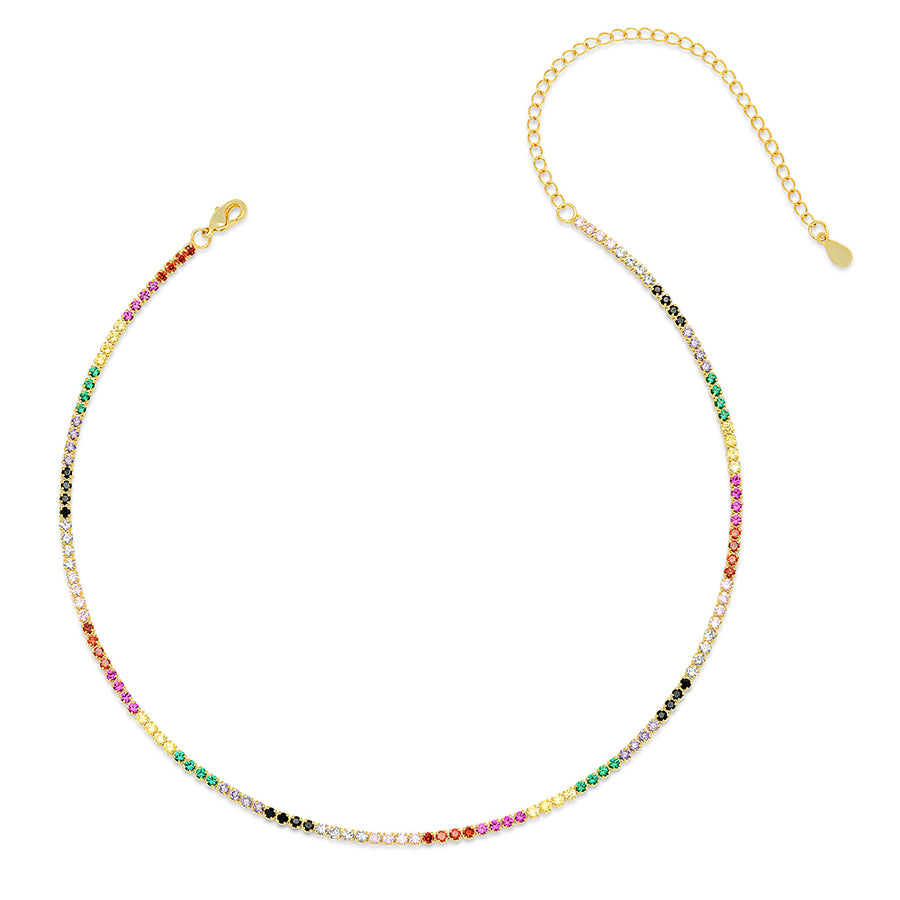 Luxe Rainbow Tennis Choker - Lolita Be Mine
