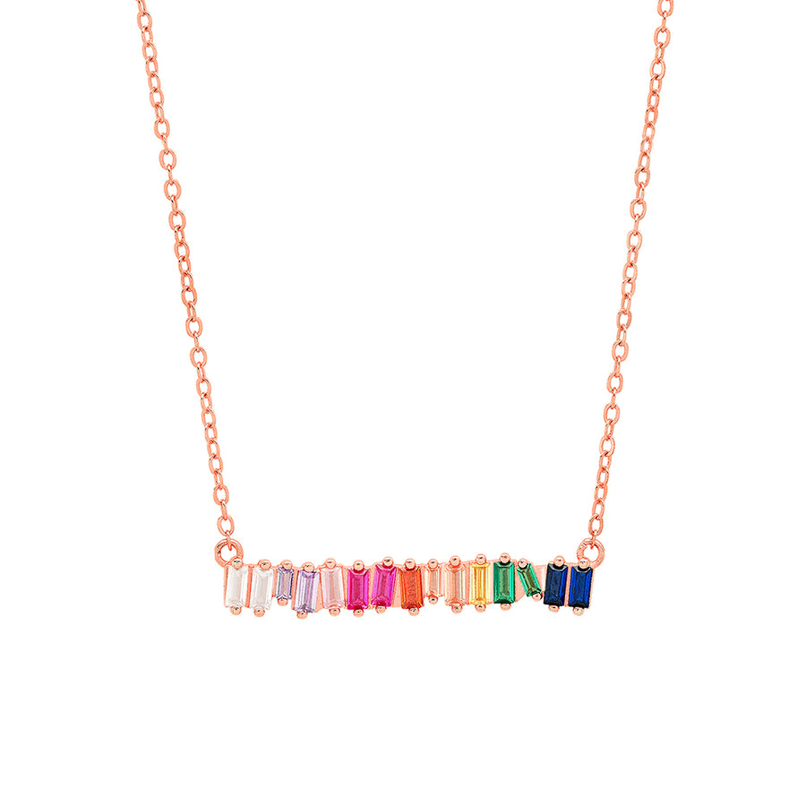 Rainbow Baguette Necklace - Lolita Be Mine