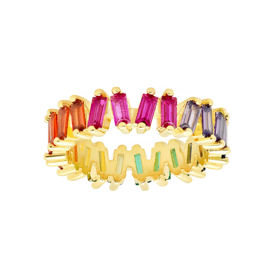 Rainbow Baguette Ring - Lolita Be Mine