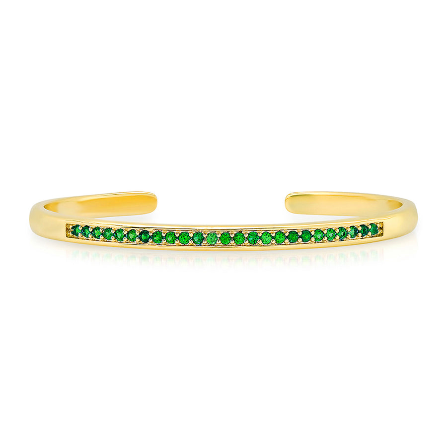 Luxe Emerald Cuff Bracelet - Lolita Be Mine