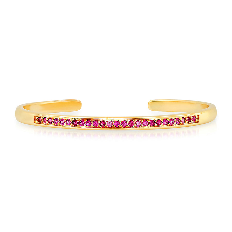 Luxe Ruby Cuff Bracelet - Lolita Be Mine