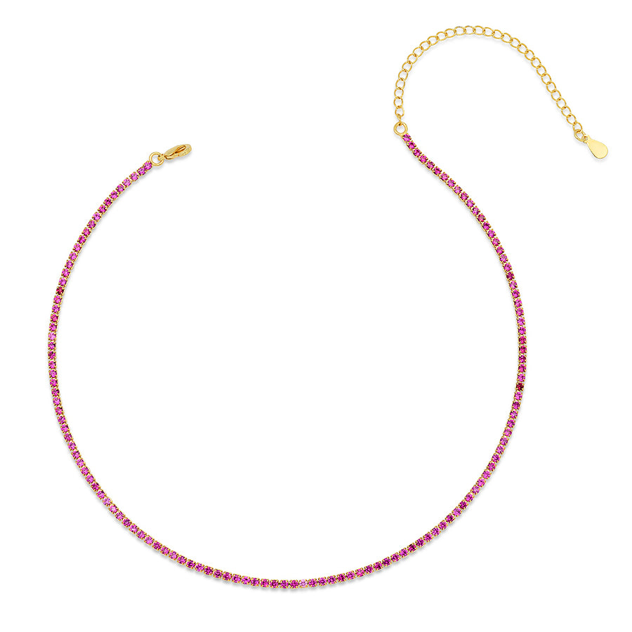 Luxe Ruby Tennis Choker - Lolita Be Mine