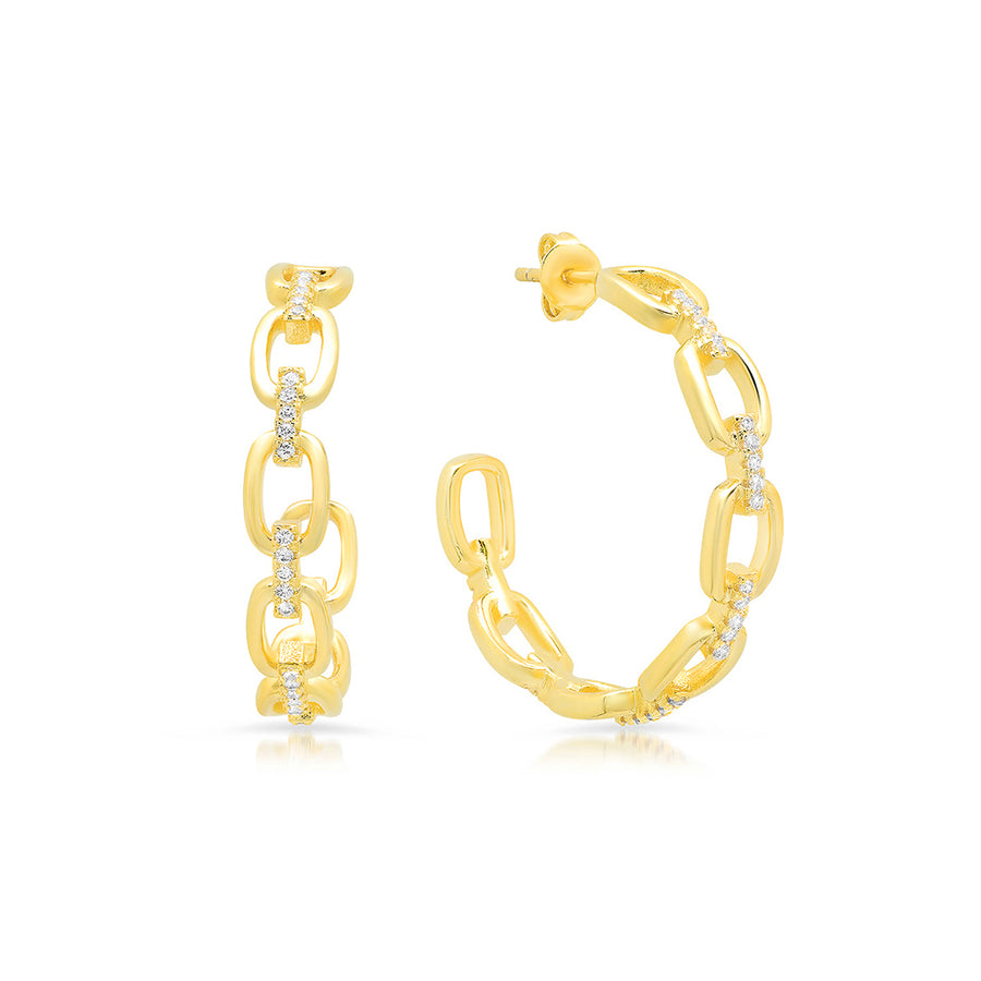 Gold Chain Hoops - Lolita Be Mine